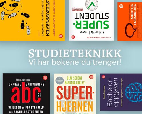 Studieteknikk - vi har bøkene du trenger