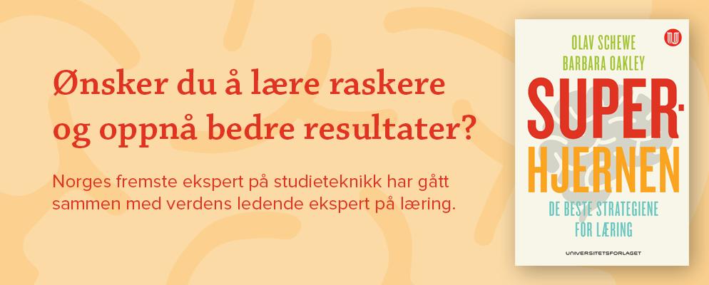Ønsker du å lære raskere og oppnå bedre resultater?Norges fremste ekspert på studieteknikk har gått sammen med verdens ledende ekspert på læring.