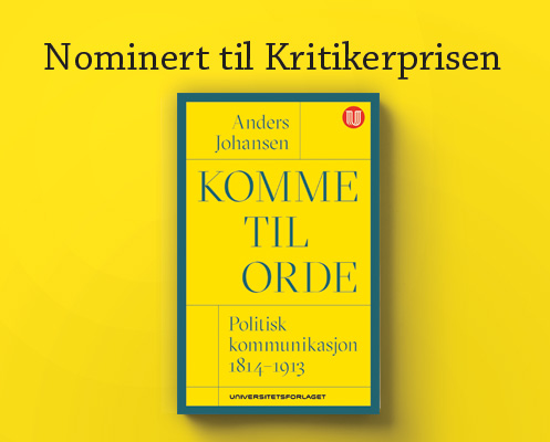 Nominert til kritikerprisen -Anders Johansen:Komme til ordet